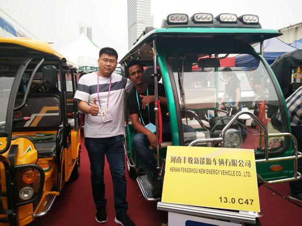 yb228亚博登录公司新车型参展第123届广交会,赢得客户青睐!